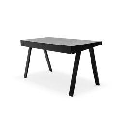 4.9 Writing Desk, 2 drawers, black | Desks | EMKO