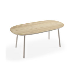 Naïve Dining Table, oval, grey | Dining tables | EMKO