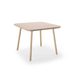 Naïve Dining Table, square, natural ash | Dining tables | EMKO