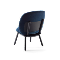 Naïve Low chair, blue, velour | Sideboards | EMKO