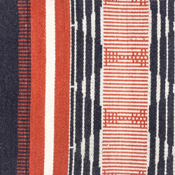Hifi Heritage vermilion & indigo | Formatteppiche | kymo