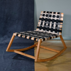 Venus Rocking Chair with straps - teak | Sessel | MARY&