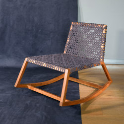 Venus Rocking Chair with rope - teak | Sessel | MARY&
