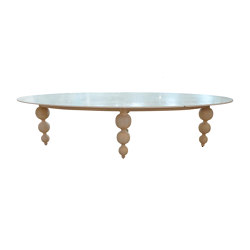 mary's design mood | Bomboulina Dining Table - marble/teak | Dining tables | MARY&