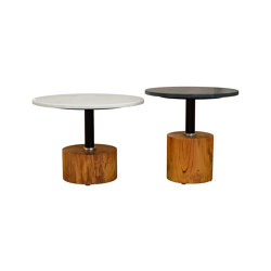 mary's design mood | Side Table - marble top/wood base | Mesas auxiliares | MARY&