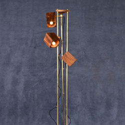 mary's light mood | Tyrek Floor Lamp - suar/brass | Free-standing lights | MARY&