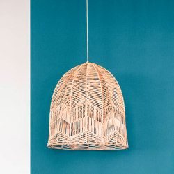 mary's light mood | Hanging Lamp - rattan | Suspended lights | MARY&