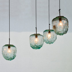 mary's light mood | Rock Hanging Lamp - glass | Suspended lights | MARY&