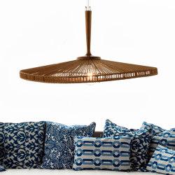 mary's light mood | Hanging Lamp - weaved danish cord/teak | Suspended lights | MARY&