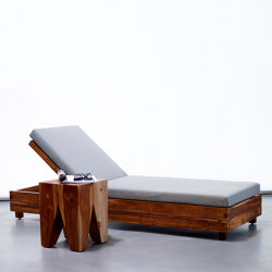 mary's design mood | Box Sunlounger - teak | Chaise longues | MARY&