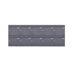 Basic | 10er 2x5 Aufputz Briefkasten Design BASIC 382A AP - DB703 eisenglimmer 100mm Tiefe | Mailboxes | Briefkasten Manufaktur