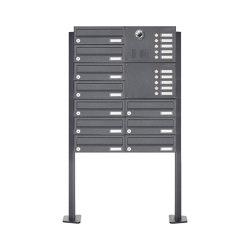 Basic | 10er Standbriefkasten Design BASIC Plus 385 KXP SP mit Klingel & Sprech - Kameravorbereitung Rechts | Mailboxes | Briefkasten Manufaktur