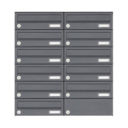 Basic | 11er 6x2 Aufputz Briefkastenanlage Design BASIC 385A AP - RAL 7016 anthrazitgrau | Mailboxes | Briefkasten Manufaktur