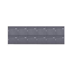 Basic | 12er 2x6 Aufputz Briefkasten Design BASIC 382A AP - DB703 eisenglimmer 100mm Tiefe | Mailboxes | Briefkasten Manufaktur