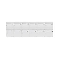 Basic | 12er 2x6 Aufputz Briefkastenanlage Design BASIC 382A AP - RAL 9016 verkehrsweiß 100mm Tiefe | Mailboxes | Briefkasten Manufaktur
