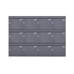 Basic | 12er 3x4 Aufputz Briefkasten Design BASIC 382A AP - DB703 eisenglimmer 100mm Tiefe | Mailboxes | Briefkasten Manufaktur