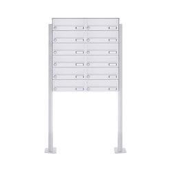 Basic | 12er 6x2 Standbriefkasten Design BASIC 385P-9016 ST-T - RAL 9016 verkehrsweiß | Mailboxes | Briefkasten Manufaktur