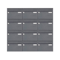 Basic | 12er Aufputz Briefkastenanlage Design BASIC 385 A 220 - RAL 7016 anthrazitgrau | Mailboxes | Briefkasten Manufaktur