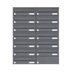 Basic | 13er Edelstahl Aufputz Briefkastenanlage Design BASIC Plus 385XA AP - RAL nach Wahl | Mailboxes | Briefkasten Manufaktur