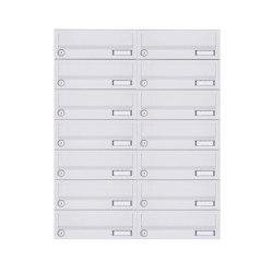 Basic | 14er 7x2 Aufputz Briefkastenanlage Design BASIC 385A-9016 AP - RAL 9016 verkehrsweiß | Mailboxes | Briefkasten Manufaktur