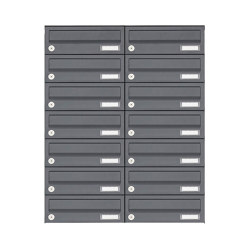 Basic | 14er Edelstahl Aufputz Briefkastenanlage Design BASIC Plus 385XA AP - RAL nach Wahl | Mailboxes | Briefkasten Manufaktur