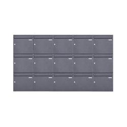Basic | 15er 3x5 Aufputz Briefkasten Design BASIC 382A AP - DB703 eisenglimmer 100mm Tiefe | Mailboxes | Briefkasten Manufaktur