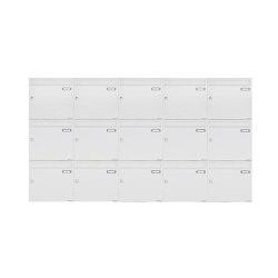 Basic | 15er 3x5 Aufputz Briefkastenanlage Design BASIC 382A AP - RAL 9016 verkehrsweiß 100mm Tiefe | Mailboxes | Briefkasten Manufaktur
