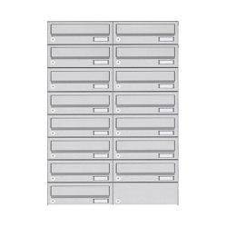 Basic | 15er 8x2 Aufputz Briefkastenanlage Design BASIC 385A- VA AP - Edelstahl V2A, geschliffen | Mailboxes | Briefkasten Manufaktur