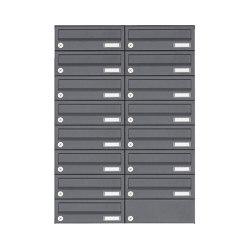 Basic | 15er Edelstahl Aufputz Briefkastenanlage Design BASIC Plus 385XA AP - RAL nach Wahl | Mailboxes | Briefkasten Manufaktur