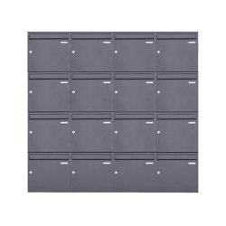 Basic | 16er 4x4 Aufputz Briefkasten Design BASIC 382A AP - DB703 eisenglimmer 100mm Tiefe | Mailboxes | Briefkasten Manufaktur