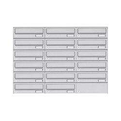 Basic | 17er 6x3 Aufputz Briefkastenanlage Design BASIC 385A- VA AP - Edelstahl V2A, geschliffen | Mailboxes | Briefkasten Manufaktur