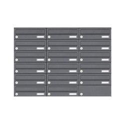 Basic | 17er Edelstahl Aufputz Briefkastenanlage Design BASIC Plus 385XA AP - RAL nach Wahl | Mailboxes | Briefkasten Manufaktur