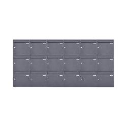 Basic | 18er 3x6 Aufputz Briefkasten Design BASIC 382A AP - DB703 eisenglimmer 100mm Tiefe | Mailboxes | Briefkasten Manufaktur