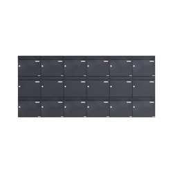 Basic | 18er 3x6 Aufputz Briefkasten Design BASIC 382A AP - RAL 7016 anthrazitgrau 100mm Tiefe | Mailboxes | Briefkasten Manufaktur