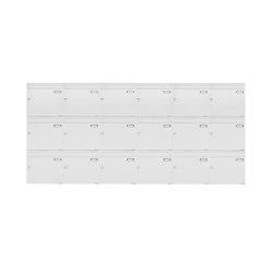 Basic | 18er 3x6 Aufputz Briefkastenanlage Design BASIC 382A AP - RAL 9016 verkehrsweiß 100mm Tiefe | Mailboxes | Briefkasten Manufaktur