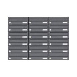 Basic | 18er Edelstahl Aufputz Briefkastenanlage Design BASIC Plus 385XA AP - RAL nach Wahl | Mailboxes | Briefkasten Manufaktur