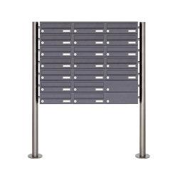 Basic | 19er Briefkastenanlage freistehend Design BASIC 385 ST-R - RAL 7016 anthrazitgrau | Mailboxes | Briefkasten Manufaktur
