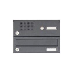 Basic | 1er Aufputz Briefkastenanlage Design BASIC 385A AP mit Klingelkasten - RAL 7016 anthrazitgrau | Mailboxes | Briefkasten Manufaktur