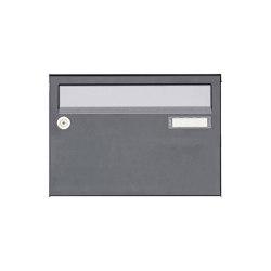 Basic | 1er Aufputz Briefkastenanlage Design BASIC Plus 385 XA 220 - Edelstahl - RAL nach Wahl | Mailboxes | Briefkasten Manufaktur