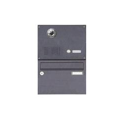 Basic | 1er Aufputzbriefkasten BASIC Plus 385 KXA SP mit Klingelkasten - Kameravorbereitung | Mailboxes | Briefkasten Manufaktur
