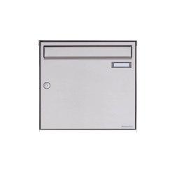 Basic | 1er Edelstahl Aufputz Briefkasten Design BASIC Plus 382XA AP - Edelstahl V2A geschliffen 100mm Tiefe | Mailboxes | Briefkasten Manufaktur
