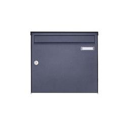Basic | 1er Edelstahl Aufputz Briefkasten Design BASIC Plus 382XA AP - RAL nach Wahl 100mm Tiefe | Mailboxes | Briefkasten Manufaktur