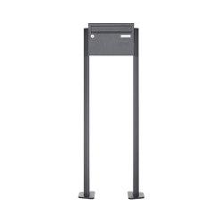 Basic | 1er Edelstahl Briefkastenanlage freistehend Design BASIC Plus 385XP ST-T - RAL nach Wahl | Mailboxes | Briefkasten Manufaktur