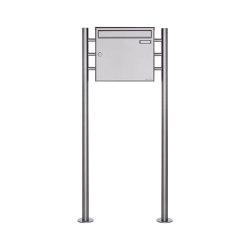 Basic | 1er Edelstahl Standbriefkasten Design BASIC Plus 381X ST R - Edelstahl V2A geschliffen 100mm Tiefe | Mailboxes | Briefkasten Manufaktur