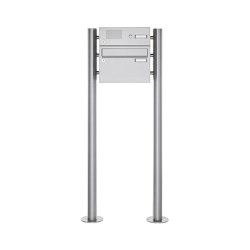 Basic | 1er Edelstahl Standbriefkasten Design BASIC Plus 385 220 ST R mit Klingelkasten | Mailboxes | Briefkasten Manufaktur