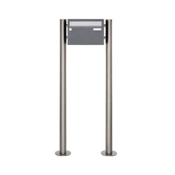 Basic | 1er Edelstahl Standbriefkasten Design BASIC Plus 385 220 X ST R - Edelstahl - RAL nach Wahl | Mailboxes | Briefkasten Manufaktur