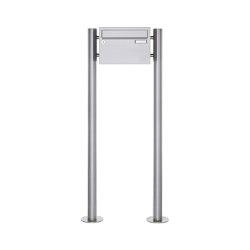 Basic | 1er Edelstahl Standbriefkasten Design BASIC Plus 385 220 X ST R - Edelstahl V2A | Mailboxes | Briefkasten Manufaktur