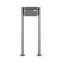 Basic | 1er Edelstahl Standbriefkasten Design BASIC Plus 385 220 X ST R - RAL nach Wahl | Mailboxes | Briefkasten Manufaktur