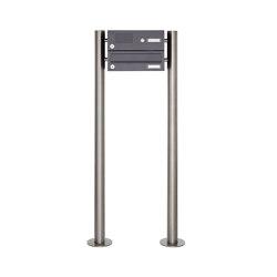 Basic | 1er Edelstahl Standbriefkasten Design BASIC Plus 385 ST-R mit Klingelkasten - RAL nach Wahl | Mailboxes | Briefkasten Manufaktur