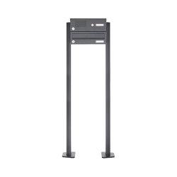 Basic | 1er Edelstahl Standbriefkasten Design BASIC Plus 385 XP SP mit Klingelkasten - RAL nach Wahl | Mailboxes | Briefkasten Manufaktur